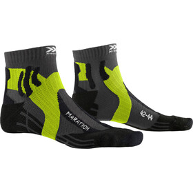 X-Socks Marathon Calze, charcoal/phyton yellow/black